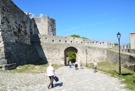 The gate to Berat Castle in Berat, Albania
