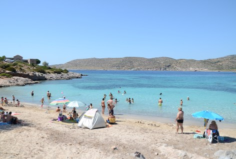 Agia Dynami beach in Chios, Greece