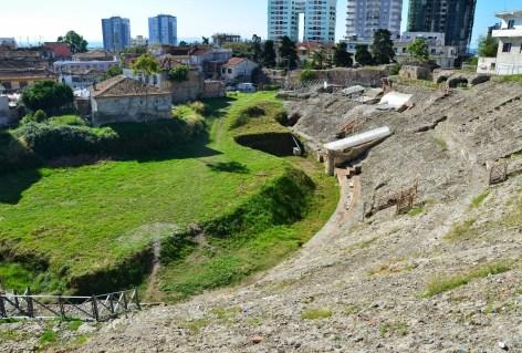 Roman amphitheatre in Durrës, Albania