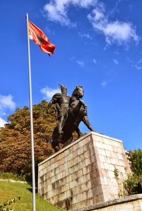 Skënderbej monument in Krujë, Albania