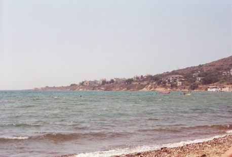 Karfas in July 2000 beach in Chios, Greece