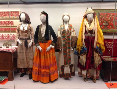 Traditional Cypriot costumes at the Benaki Museum in Athens, Greece