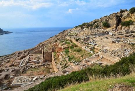 Temple of Apollo and altar at Knidos on Datça Peninsula, Turkey