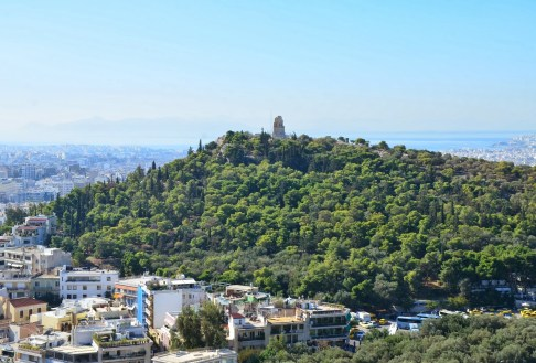 Filopappos Hill in Athens, Greece