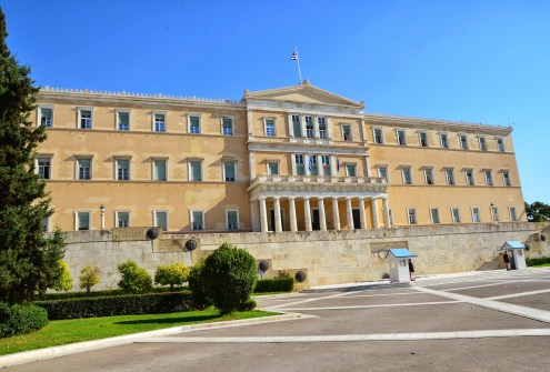 Hellenic Parliament in Athens, Greece