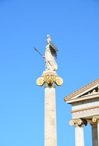 Statue of Athena at Academy of Athens