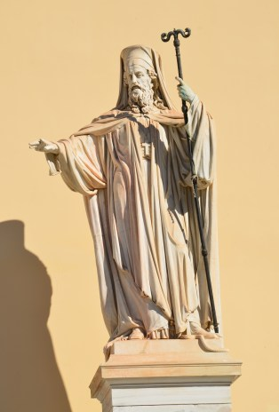 Statue of Patriarch Gregory V at University of Athens in Athens, Greece