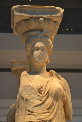 Caryatid at the Acropolis Museum in Athens, Greece
