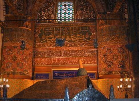 Tomb of Rumi, by Georges Jansoone in Konya, Turkey