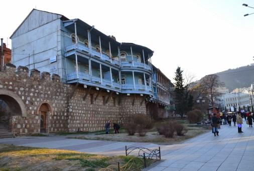 City walls in Tbilisi, Georgia