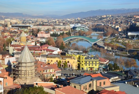 View from Narikala Fortress in Tbilisi, Georgia