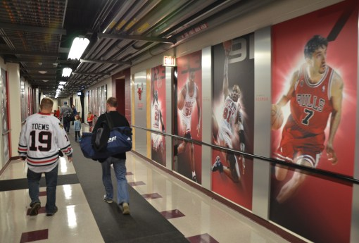 Hallway at the United Center, Chicago, Illinois