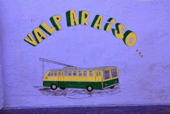 Graffiti on Cerro Artillería in Valparaíso, Chile