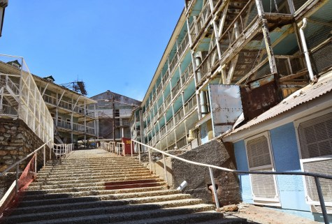 Residential buildings at Sewell Mining Town, Chile