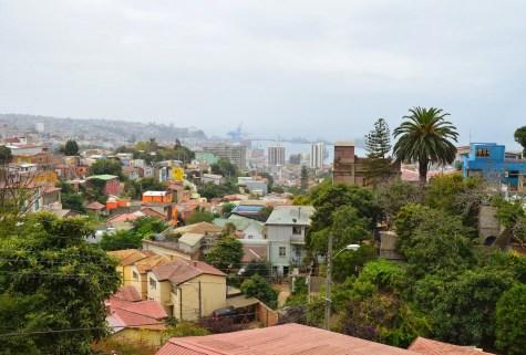 The view from La Sebastiana in Valparaíso, Chile