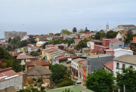 The view from Av. Alemania in Valparaíso, Chile