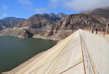 The dam in Valle del Elqui, Chile