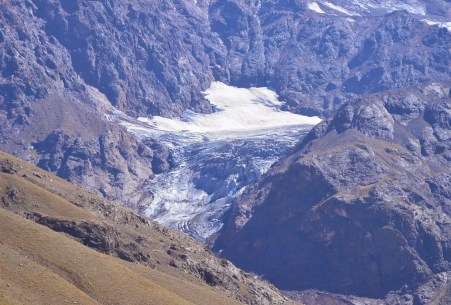San Francisco Glacier at El Morado, Cajón del Maipo, Chile