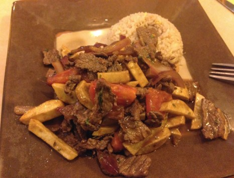 Lomo saltado at El Chalan del Norte in La Serena, Chile