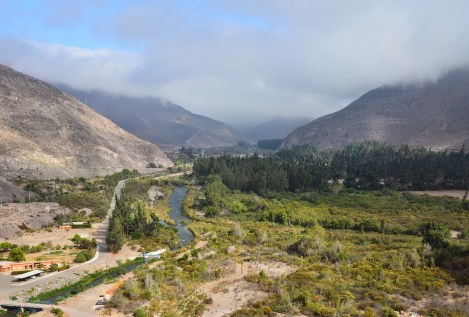 View from the dam in Valle del Elqui, Chile