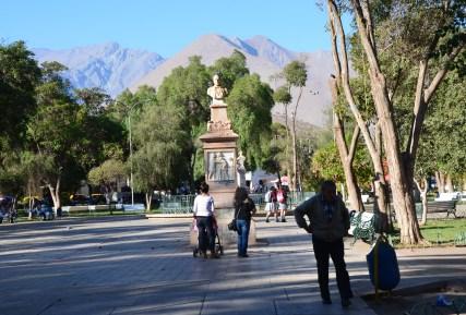 Plaza de Armas in Vicuña, Valle del Elqui, Chile