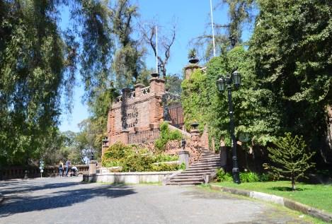 Castillo Hidalgo at Cerro Santa Lucía in Santiago de Chile