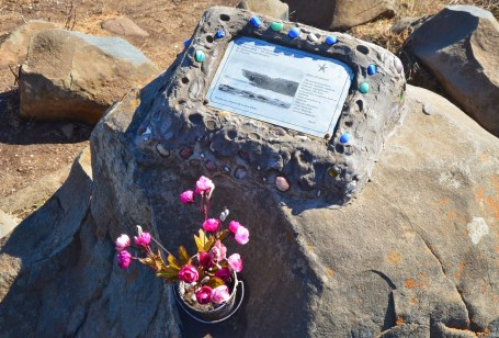 Surfer memorial in Pichilemu, Chile