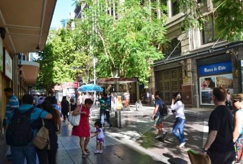 Paseo Ahumada in Santiago de Chile