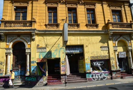 Calle San Ignacio de Loyola in Barrio Dieciocho, Santiago de Chile