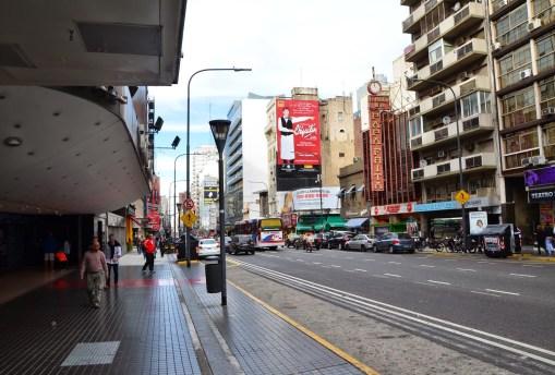 Avenida Corrientes in Buenos Aires, Argentina