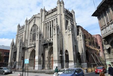 Basílica del Salvador in Barrio Brasil, Santiago de Chile