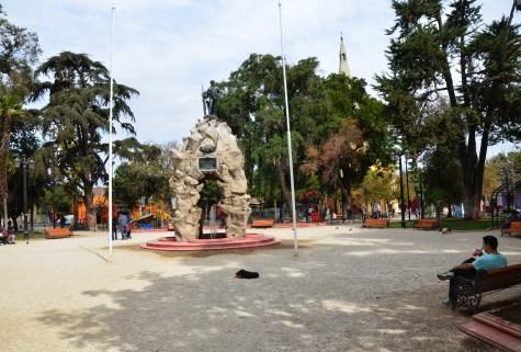 Plaza Yungay in Barrio Yungay, Santiago de Chile