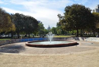 Parque Diego de Almagro in Barrio Dieciocho, Santiago de Chile