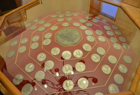 Presidential coins at Palacio de La Moneda in Santiago de Chile