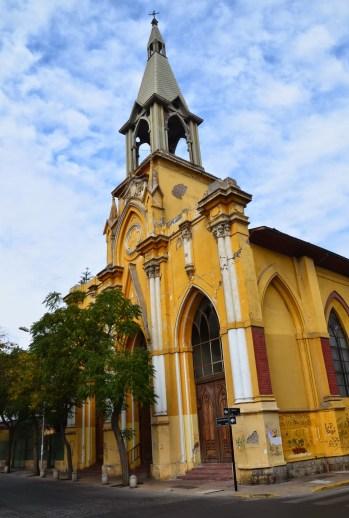 Iglesia de San Saturnino in Barrio Yungay, Santiago de Chile
