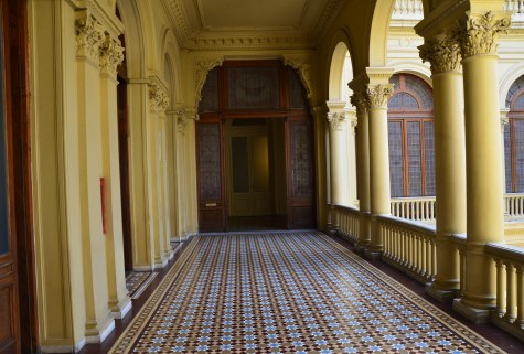 Patio de las Palmeras at Casa Rosada on Plaza de Mayo in Buenos Aires, Argentina