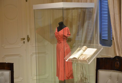 Dress of Eva Perón at Salón Eva Perón at Casa Rosada on Plaza de Mayo in Buenos Aires, Argentina