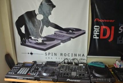 Zezinho's DJ studio at Rocinha favela, Rio de Janeiro, Brazil