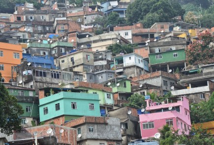 Homes at Rocinha favela, Rio de Janeiro, Brazil