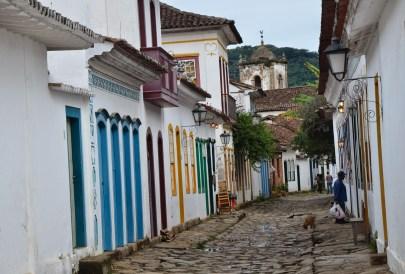 A street in Paraty, Brazil