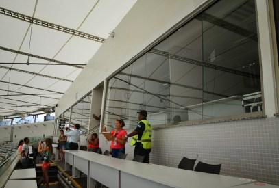 Press area at Estádio do Maracanã in Rio de Janeiro, Brazil