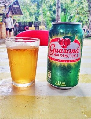 Guaraná Antarctica on Ilha Grande in Brazil