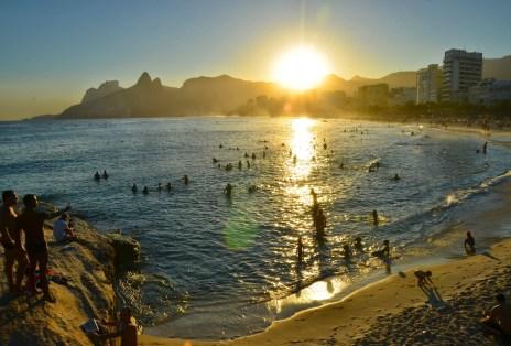 Sunset from Arpoador in Rio de Janeiro, Brazil