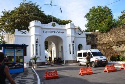 Entrance to Forte de Copacabana in Rio de Janeiro, Brazil