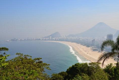 View of Copacabana from Forte Duque de Caxias in Rio de Janeiro, Brazil