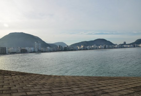 View of Copacabana from Forte de Copacabana in Rio de Janeiro, Brazil