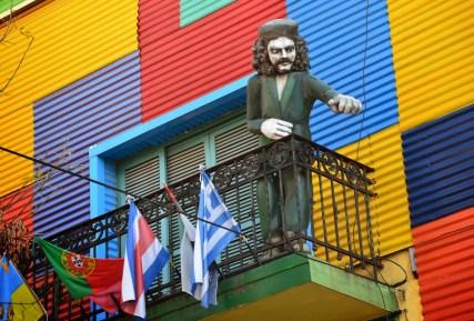Che Guevara in La Boca, Buenos Aires, Argentina