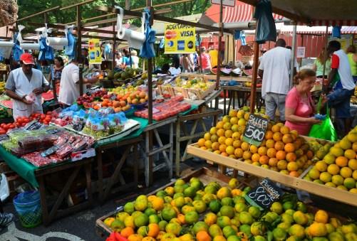 Copacabana Sunday Market in Rio de Janeiro, Brazil