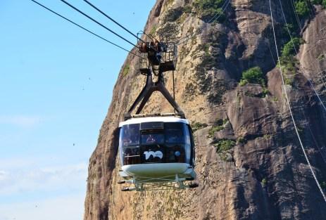 Cable car to Pão de Açúcar in Rio de Janeiro, Brazil
