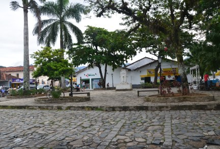 Praça do Chafariz in Paraty, Brazil